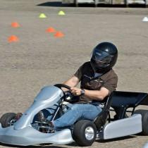 Go-Kart Slalom-Parcours