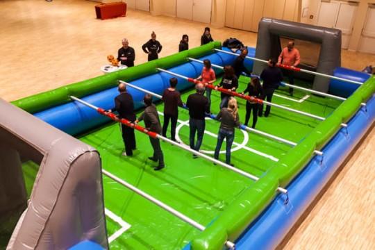 Human Table Soccer Aufblasbar Mobil Teamevent Tagungshotel Tagungscenter Deutschland Europa Blaubeuren