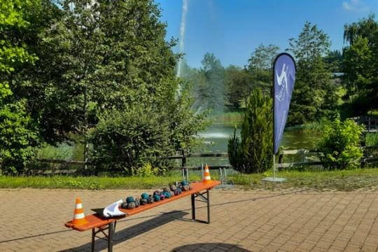 Teamevent Holzfällerolympiade Aktivzentrum Mobiles Event